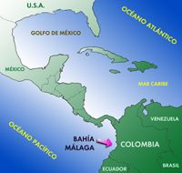Bahia Malaga off the coast of Colombia in the Pacific