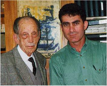 Dr. Barraquer, Father of Refractive Surgery, and Dr. Friedman. (courtesy of Dr. Friedman)